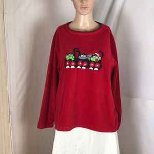 Avalon Sport Fleece Top Size M - Ugly Christmas